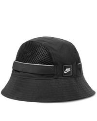 Nike Sportswear Logo Appliqud Nylon And Mesh Bucket Hat