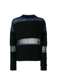 Maison Margiela Round Neck Panelled Sweater