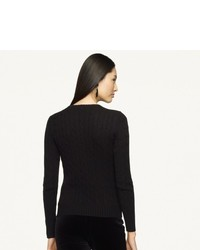Ralph Lauren Black Label Slim Fit Cable Cashmere