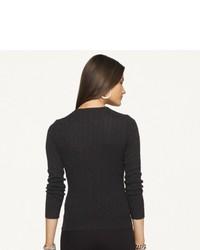Ralph Lauren Black Label Slim Fit Cable Cashmere