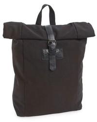 Topman Black Canvas Roll Top Backpack