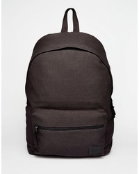 Asos Brand Backpack In Canvas
