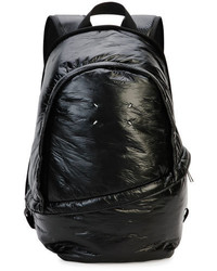 Maison Margiela Creased Nylon Double Zip Backpack Black