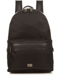 Dolce & Gabbana Leather Trimmed Nylon Backpack
