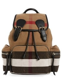 Burberry Medium Canvas Backpack Black