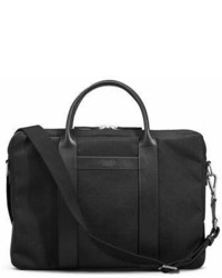 Black Canvas Briefcase