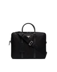 Prada Double Zip Nylon Briefcase
