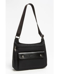 Black Canvas Crossbody Bag