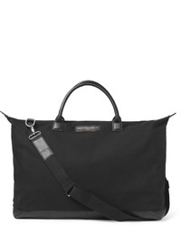 WANT Les Essentiels Hartsfield Leather Trimmed Organic Cotton Canvas Holdall
