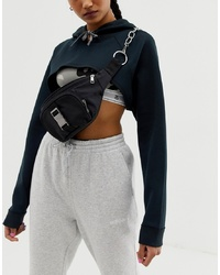 ASOS DESIGN Seat Belt And Chain Detail Bum Bag