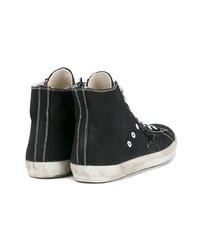 Golden Goose Deluxe Brand Black Canvas Hi Top Sneakers