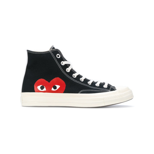 4f48c894b00a ... Canvas High Top Sneakers Comme Des Garcons Play Comme Des Garons Play  Play Converse Hi Tops ...