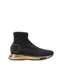 Salvatore Ferragamo Hi Top Sock Sneakers