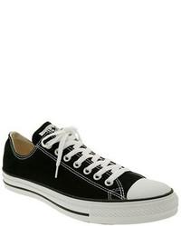 Black Canvas Low Top Sneakers