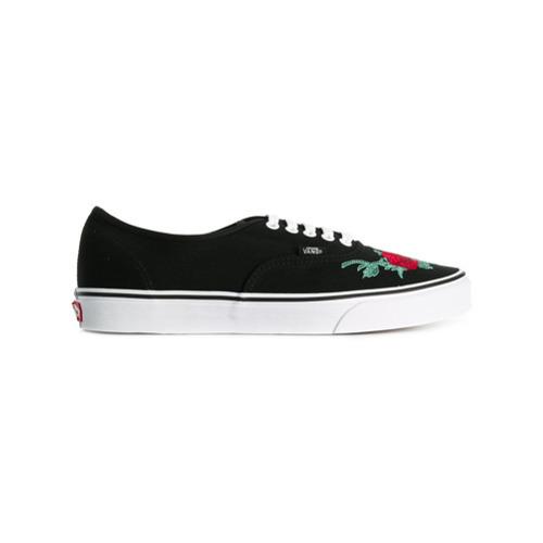 da1ae034b8 ... Black Canvas Low Top Sneakers Vans Authentic Sneakers ...