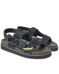 Valentino Garavani Neoprene And Webbing Sandals