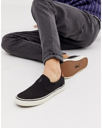Polo Ralph Lauren Thompson Canvas Plimsoll With Multi Player In White