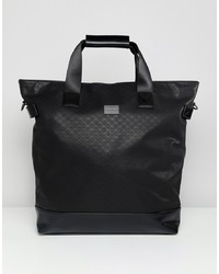 Peter Werth Holdall Tote In Textured Black
