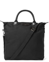 WANT Les Essentiels Ohare Leather Trimmed Organic Cotton Canvas Tote Bag