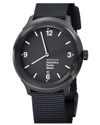 Helvetica no1 bold round nylon strap watch 43mm medium 434401