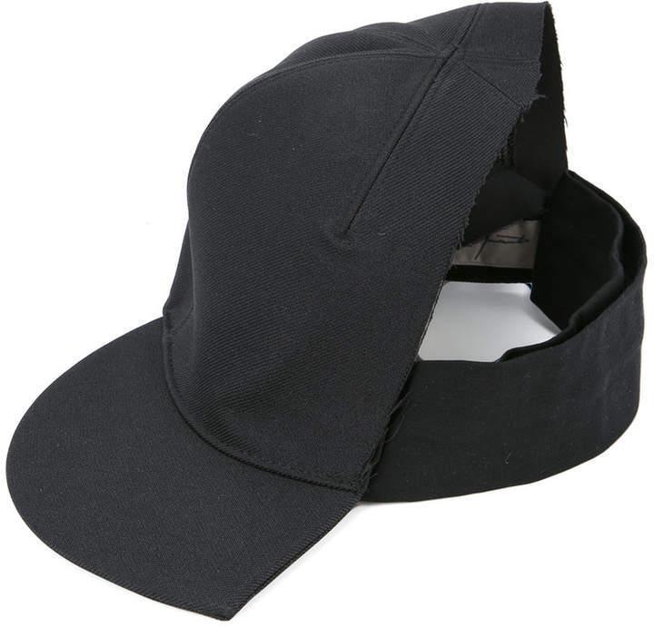 ec9e8eb051200 Half Cap. Black Cap by Yohji Yamamoto