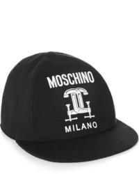 Moschino Printed Cotton Piqu Baseba Cap Back