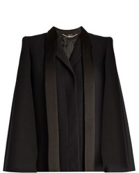 Alexander McQueen Tailored Wool And Silk Blend Cape