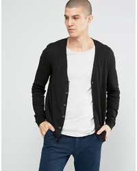 Asos Cardigan In Black Cotton