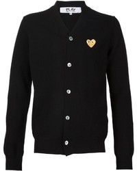 Comme des Garcons Comme Des Garons Play Embroidered Heart Cardigan