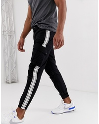 Siksilk Cargo Pants In Black With