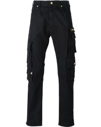 Versace Golden Snap Button Cargo Trousers