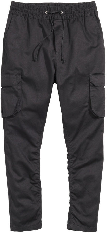 H&M Twill Cargo Pants Black | Where to buy & how to wear