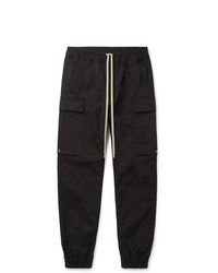 Rick Owens Slim Fit Stretch Cotton Cargo Trousers