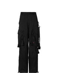 Off-White Wide Leg Logo Detailed Ripstop Cargo Trousers