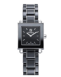 Fendi Ceramic Square Case Watch 25mm Black
