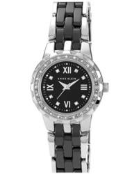 Anne Klein Crystal Ceramic Bracelet Watch 25mm