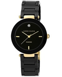 Anne Klein Round Ceramic Bracelet Watch 33mm