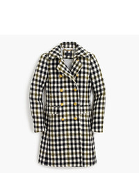 J.Crew Double Breasted Coat In Oxford Check