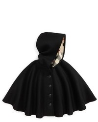 Burberry Girls Rosa Hooded Wool Cape