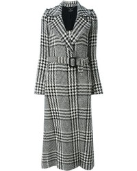 Twin-Set Houndstooth Check Long Coat
