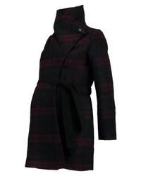 Anna Field Short Coat Navy Bordeaux Black