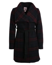 Anna Field Short Coat Navybordeauxblack