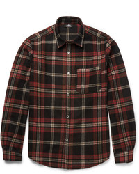 Checked wool blend flannel overshirt medium 826233