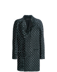 Black Check Overcoat