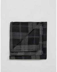Asos Pocket Square In Black Check