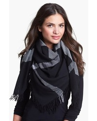Burberry Colour Check Square Scarf Black Check One Size One Size