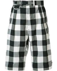 Black Check Shorts