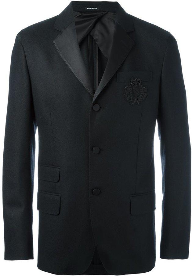 Alexander McQueen Embellished Check Pocket Blazer