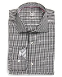 Bugatchi Trim Fit Dot Check Dress Shirt