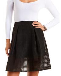 Black Check Skater Skirt